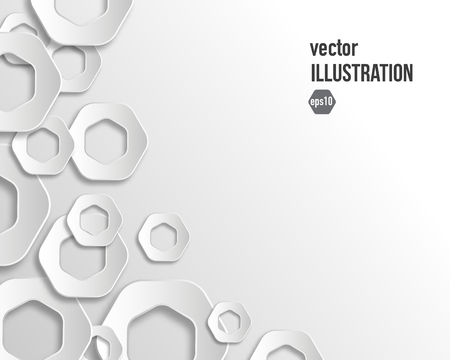 window pane: Vector abstract background of gray hexagon flat style