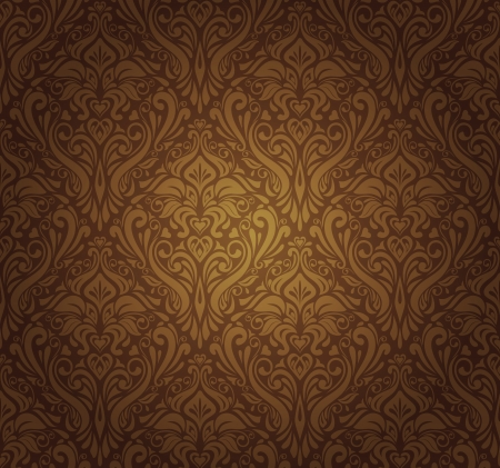 dark brown vintage wallpaper design Stock Vector - 17524725