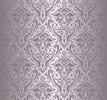 pale: pink    silver vintage wallpaper