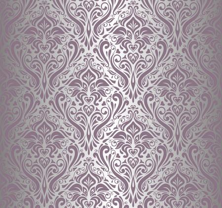 Roze zilver vintage behang Stockfoto - 17524730