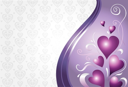 violet and pink valentine s card background 2 Vector