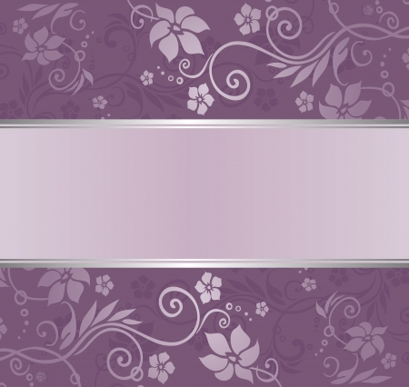 violet and silver luxury vintage wallpaper with copyspace Stock Vector - 18305861