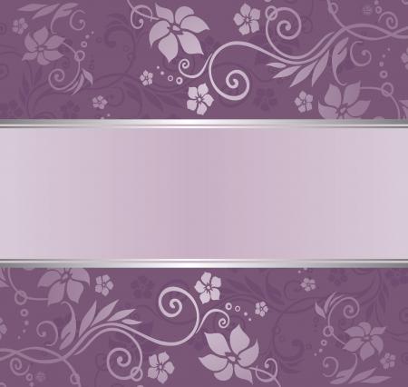 violet en zilver luxe vintage behang met copyspace