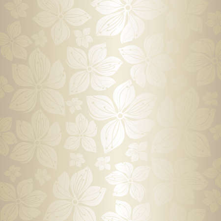 Gentle pale floral wedding invitation background Vector