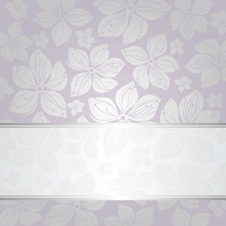 pale silver and violet invitation background Stock Vector - 18681399