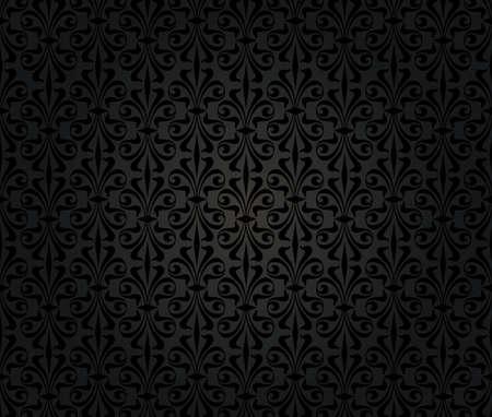black vintage wallpaper background design Stock Vector - 18684049