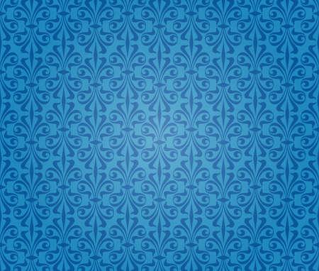 blue vintage background wallpaper design Stock Vector - 18684074