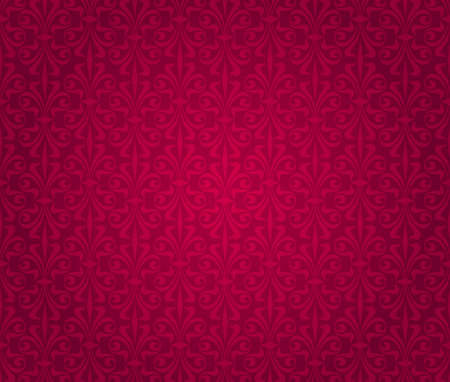 red  vintage wallpaper design Stock Vector - 18684079