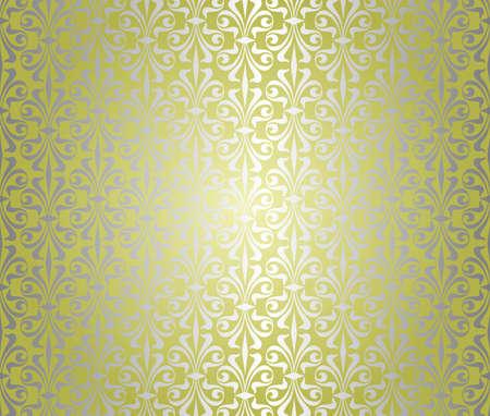 Yeşil gümüş duvar kağıdı tasarımı