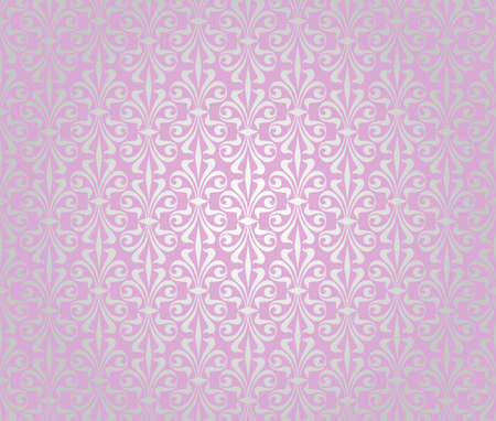 pink    silver vintage wallpaper background design Vector