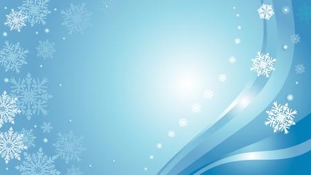 Blauwe Kerst kaart achtergrond met sneeuwvlokken Stockfoto - 18684057