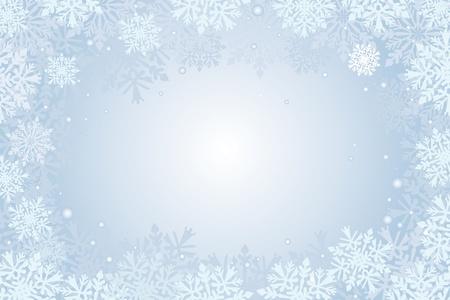 kerstkaart sneeuwvlokken achtergrond Stock Illustratie