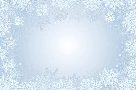 Weihnachtskarte Schneeflocken Hintergrund Standard-Bild - 18684088