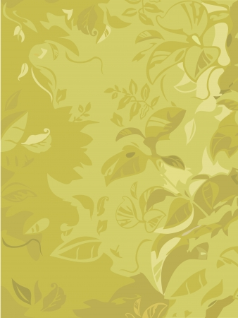 leaves in pale green Vector