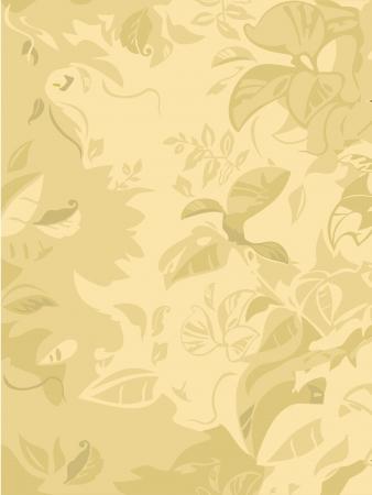 pale ocher: leaves in pale ocher Illustration