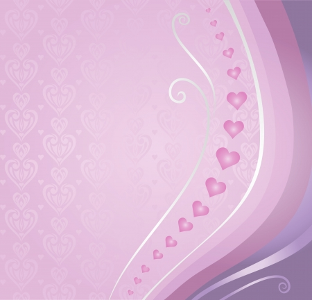 pink violet valentine s card background Vector