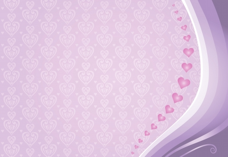 pale: pink valentine s card background