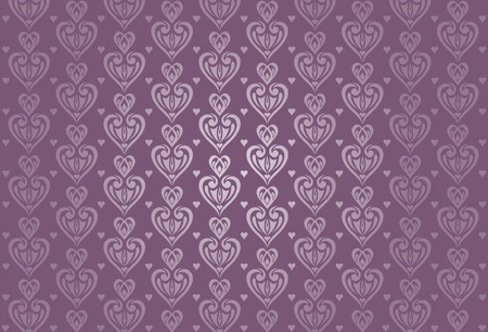 valentine   birthday card background in  violet Stock Vector - 18684204