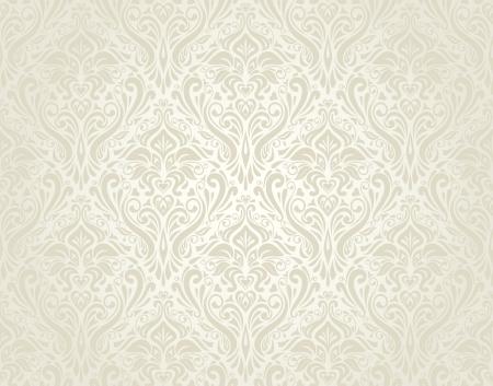 Hellen Hochzeit Weinlesetapete Standard-Bild - 18684128