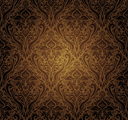 dunkelbraunem Vintage wallpaper design