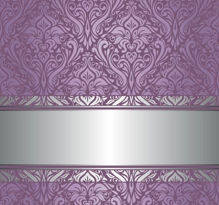 amazing wallpaper: violet and silver  luxury vintage wallpaper
