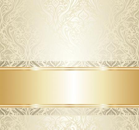 brillant: Helle Luxus-Vintage Tapete