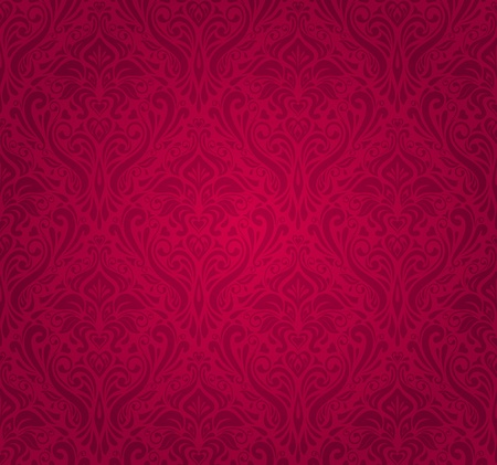 red  vintage wallpaper Stock Vector - 18684159