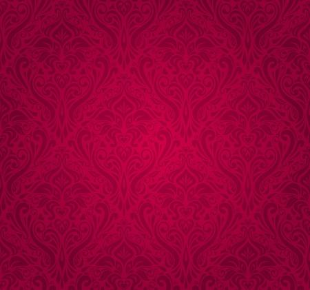 red  vintage wallpaper Stock Vector - 18684159