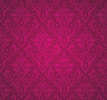 red  vintage wallpaper Stock Vector - 18684132