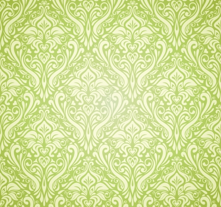 green vintage wallpaper design
