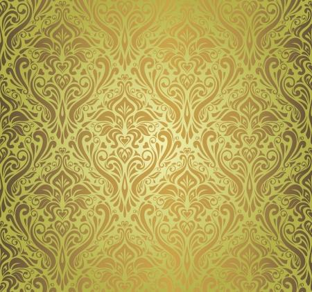 Green    brown  vintage wallpaper design  Illustration