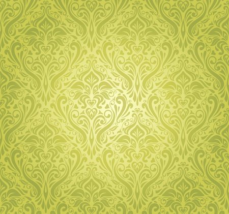 monochromatic: green  vintage wallpaper design