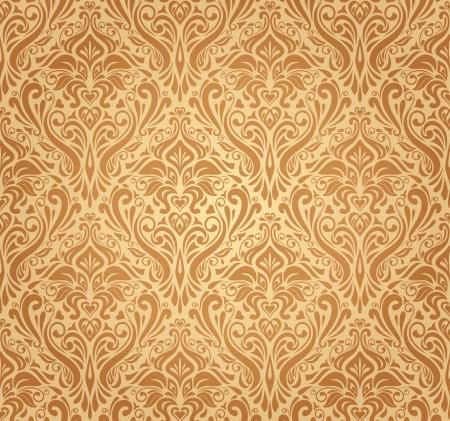 ocher vintage wallpaper Stock Vector - 18684205