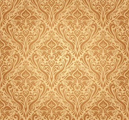 ocher vintage wallpaper Stock Vector - 18684205