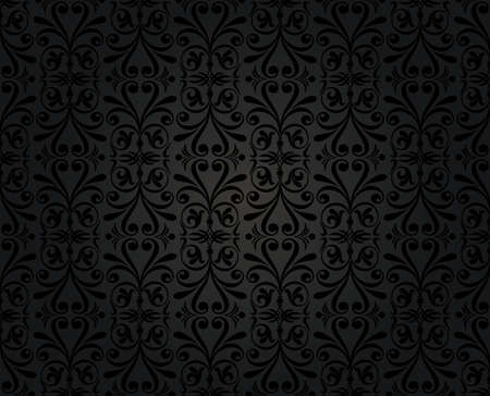 black  vintage wallpaper Stock Vector - 18764347