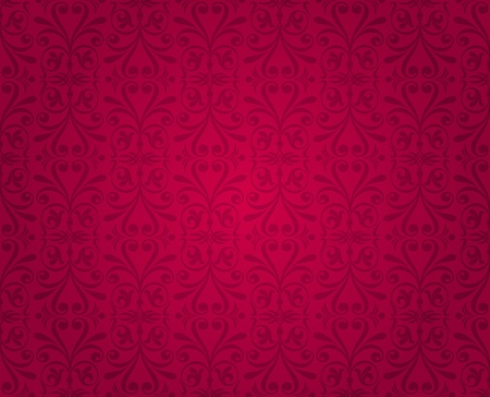 red  vintage wallpaper  Stock Vector - 18764344