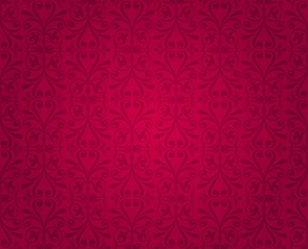 red  vintage wallpaper Stock Vector - 18764344