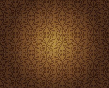 dark brown vintage wallpaper design Vector