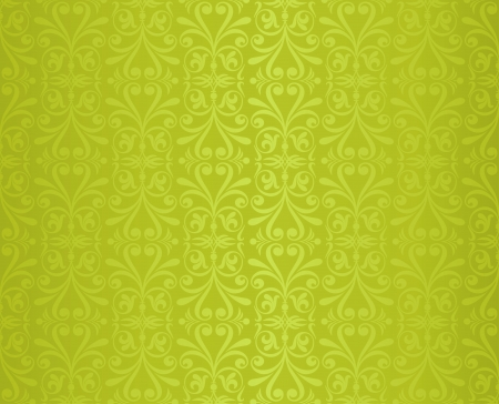 green  vintage wallpaper design  Vector
