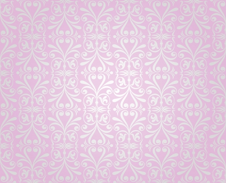pink    silver vintage wallpaper background design Stock Vector - 18764341