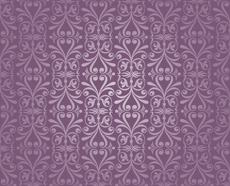 violet and silver  luxury vintage wallpaper Stock Vector - 18764359