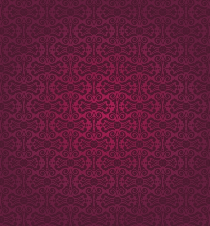 red  vintage wallpaper Stock Vector - 18764445