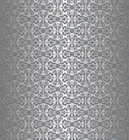 Silver luxury vintage wallpaper Stock Vector - 18764448