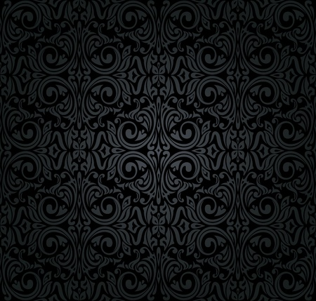 black  vintage wallpaper Stock Vector - 18764355