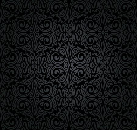 zwart vintage behang Stock Illustratie
