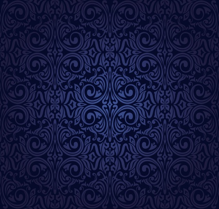 indigo: dark indigo  vintage wallpaper