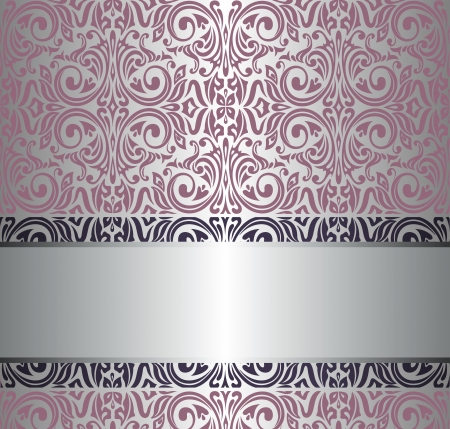 pink   silver vintage wallpaper Stock Vector - 18764351
