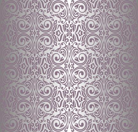 ピンク銀ビンテージ壁紙