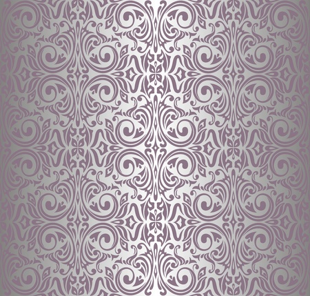 pink   silver vintage wallpaper Stock Vector - 18764442