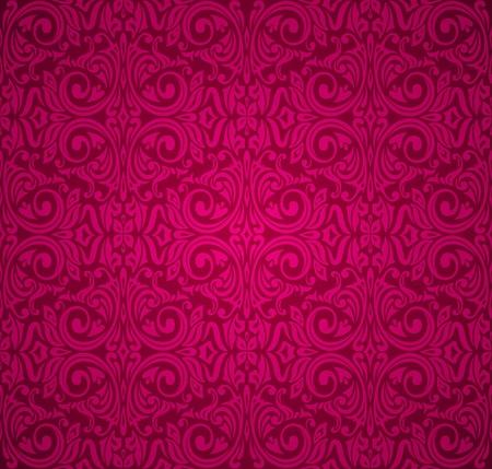 red  vintage wallpaper Stock Vector - 18764439